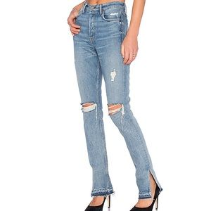 GRLFRND Natalia High-Rise Skinny Split Jean